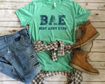 BAE Best Aunt Ever - Funny Tees for Aunts