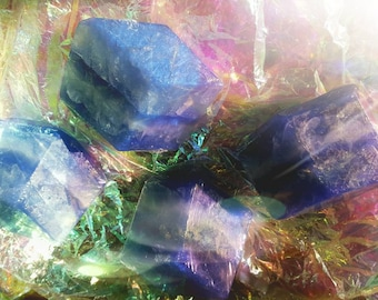 FROZEN. Winter in the Adirondacks Limited Edition Aromatherapy Crystal Gem Soap