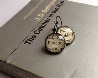 The Catcher in the Rye Earrings, Bookworm Gift, Book Lover, Classic Novel Jewellery, Graduation, Literature Jewellery, JD Salinger