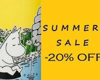 SUMMER SALE 20% Discount Use Coupon code SUMMER20 Moomin Marimekko fabric cotton patchwork vintage Finland  tillukka
