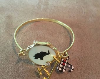 Alabama Roll Tide Charm Bracelet , Alabama Charm Bracelet , Elephant Charm Bracelet