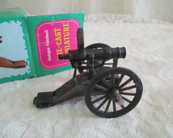 Cannon Pencil Sharpener Die Cast Miniature New old stock