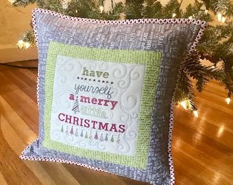 MarveLes CHRISTMAS PILLOW Sweetwater fabric Moda Holiday Home Decor