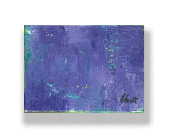 """Abstract Painting. """"Purple Green"""""""