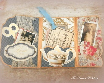 For The Bride.  4x6 Album Greeting Card