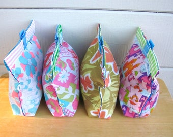My Favorite Things - Reusable Eco Friendly Fabric Baggie / Pouch - Sandwich / Lunch / Travel Bag - Baby / Toddler - Girl Teacher School Gift