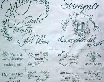 Quiltsy Destash Spring and Summer Season Sampler Garden Sayings by Studio Block Party