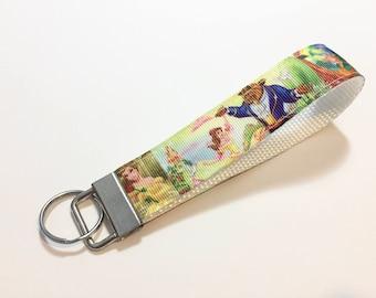 Beauty and the Beast Princess Belle Key Fob Keychain wristlet