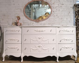 Painted Cottage Chic Shabby French Dresser DR907
