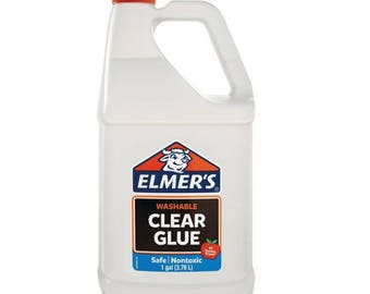 Elmer's Liquid School Glue  Clear  Washable  1 Gallon  Great For Making Slime DIY clear slime recipe free shipping