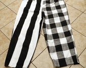 Cosplay slacks reserved for Jeff, cosplay costume, cosplay men's slacks, men's costume, black & white slacks, men's slacks, theater costume