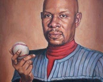 Captain Sisko - Star Trek Deep Space Nine fine art print - Benjamin Sisko Portrait Painting - Avery Brooks - 5x7 8x10 11x14