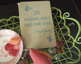 Cookbook Vintage - Working Girls Own Cookbook 1954 - Recipe Book - Gift for Her Newlywed Housewarming Gag