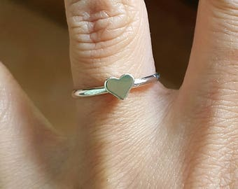 Silver Heart ring size us 7