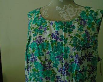 B Altman & Co Dash About Floral Casual Shift Dress. Size 22 1/2