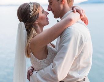English Net Veil,  Long Wedding Veil, Blush Veil, Ivory Wedding Veil, Cathedral Veil, Fingertip Veil, Watlz Veil, Floor Length Veil, Bride