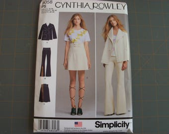 Simplicity 8058 Misses Skirt Jacket and Knit Pants Sizes 12-20 NEW