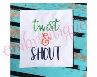 "Twist & Shout Monogram Font- BX Files included- Instant Download Machine embroidery design -0.75"", 1"", 1.45"", 2"", 2.5"", 3"""
