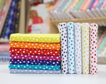 Clever Dots - Fat Eighth Bundle - Windham Fabrics Basic - 12 pieces