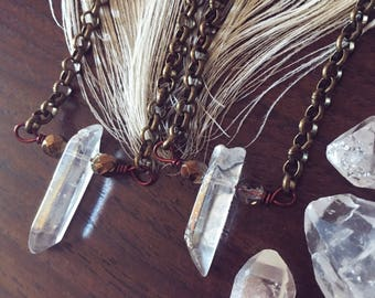 Aura Quartz Crystal Choker Necklace