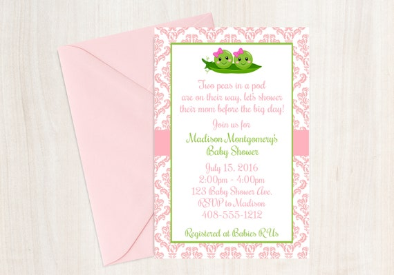 Two peas in a pod baby shower two peas in a pod invitation twins il570xn filmwisefo
