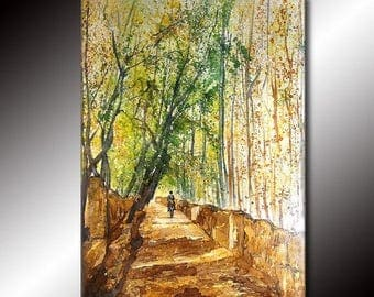 Landscape Painting Tree Pathway Gallery fine art by Henry Parsinia Large 36x24