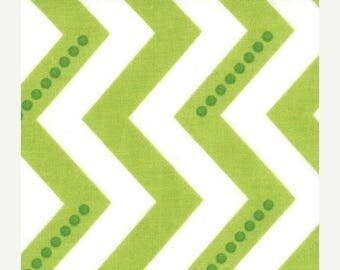 last call Simply Color by V & Co for Moda Fabrics, Dotted Chevron Lime Green 1/2 yard total