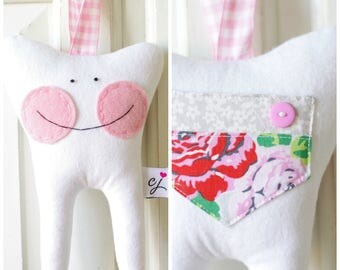 Tooth Fairy Pillow for a Girl (Roses)-READY TO SHIP