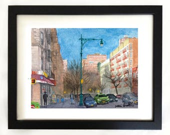 Art Print West 116th Street Harlem NYC Watercolor Painting