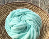 Hand spun yarn, super bulky, in thick and thin merino wool - 50 yards, 3.15 ounces/90 grams