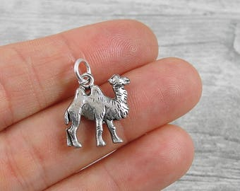 Two-Hump Camel Charm - Silver Plated Bactrian Camel Charm for Necklace or Bracelet