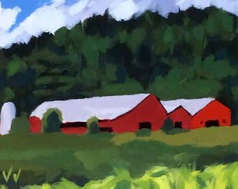 """MODERN FARMHOUSE, PLEIN Air, Cubicle Decor, Brush Strokes, Trending Now, Plein Air Painting, Plein Air Paintings, Brushstroke Art, 8"""" x 8"""""""