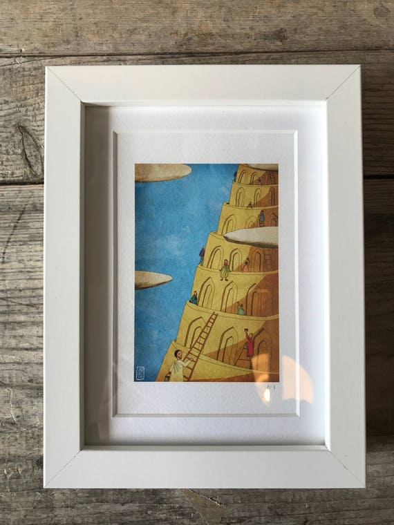 SALE! JSB Tower of Babel - Mini Framed Print