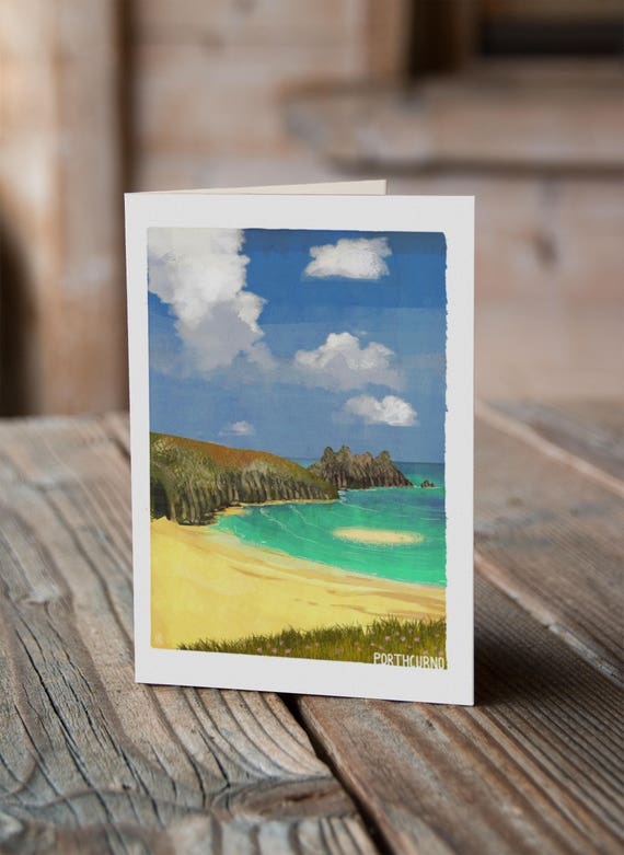 Cornish Coasts - Porthcurno Greetings Card