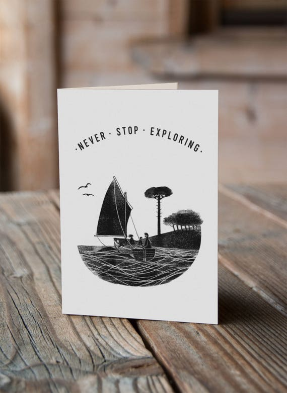 Wildcat Island - Never Stop Exploring - Greetings Card