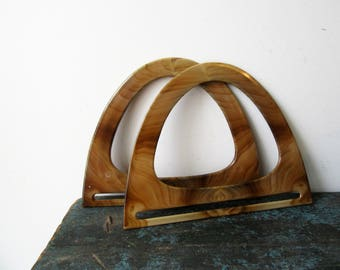 NEW Old Stock Plastic Marbled Purse Handles