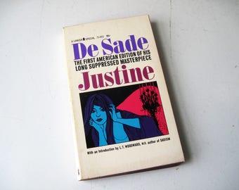 Justine by Marquis De Sade 1964 Vintage Erotica Lancer Paperback First American Edition, SALE