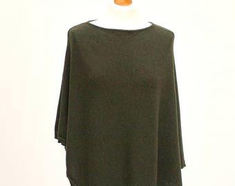 Forest green PONCHO wrap, poncho cape, autumn fashion cape, gift ideas, fashion accessories, S/M size poncho,  wool poncho WRAP