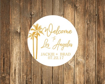Gold Foil Printed Wedding Welcome  Stickers 25 count-Gold Favor Stickers