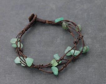 Jade Free Form Simple Strand Bracelets
