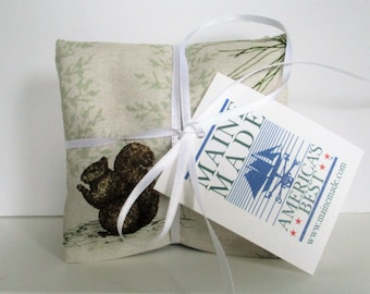 Maine Balsam Fir Woodland Wildlife Sachet Set of 3 Pine Scent Ready to Ship