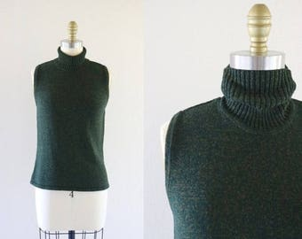 ON SALE forest sleeveless knit / m