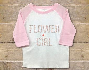 Flower Girl Shirt, Flower Girl Gift, Gift for Flower Girl, Wedding Party Shirts, Custom, Personalized, Rehearsal Shirt, Ask Flowergirl