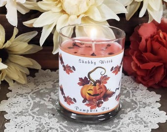 11.oz Pumpkin Pie Candle, Jar Candle, Altar Candle, Fall Candle. Mabon Candle