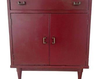 Mid Century Chinoiserie Cabinet Lp Record Album Storage