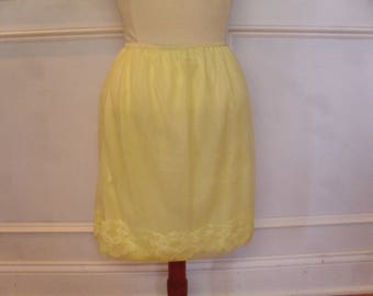 Vintage 1960's  Yellow Slip
