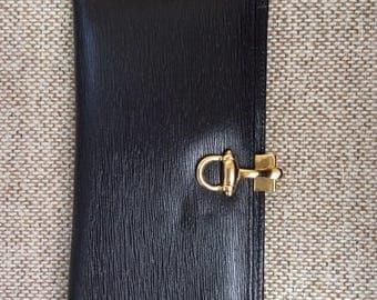 Genuine leather checkbook wallet, Rare, Vintage 1980's
