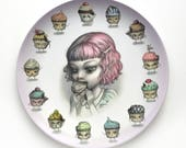 PREORDER - Birthday Bite - Limited Edition 10 inch Melamine Dinner Plate - Just One Bite by Mab Graves
