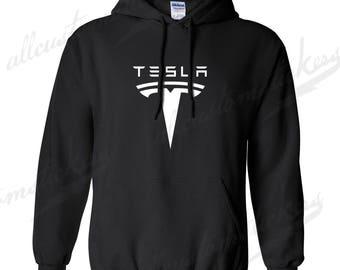 TESLA - Men's/Unisex Hooded Sweatshirt