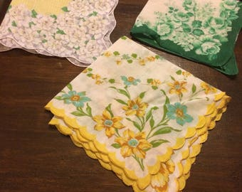 Lot of 3 Vintage  Hankies #5